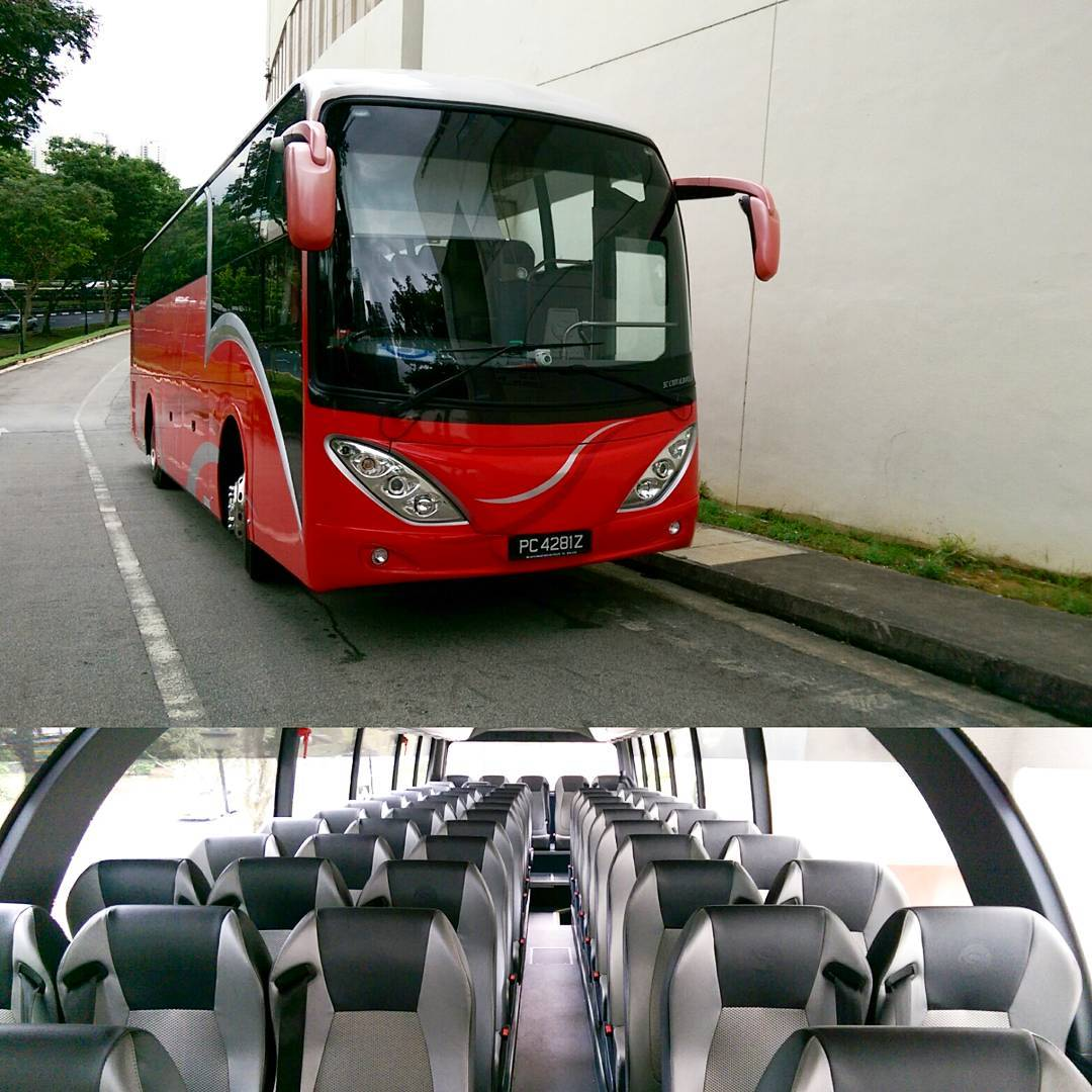 Welcoming the 59 seater bus to the family #ebus #ebus_express #isuzu #59seater