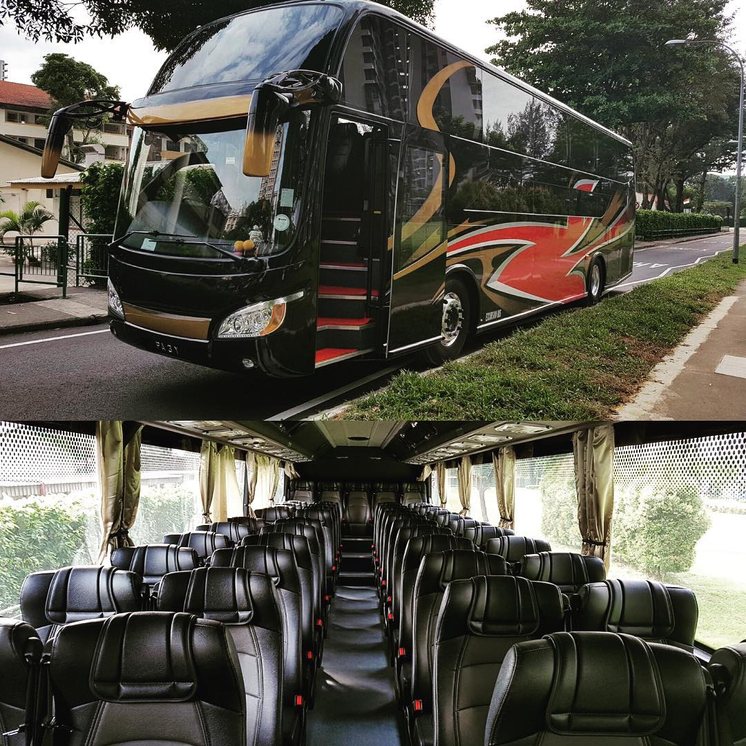 Welcoming the latest addition to our family. 49 seater Scania excursion bus. Visit www.ebus.com.sg #ebusexpress #scania #tourbus #singapore